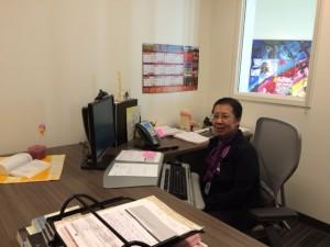 Sister Toyleen in her office